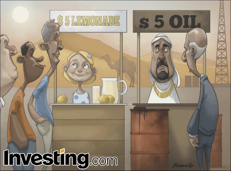 原油価格の下落続く