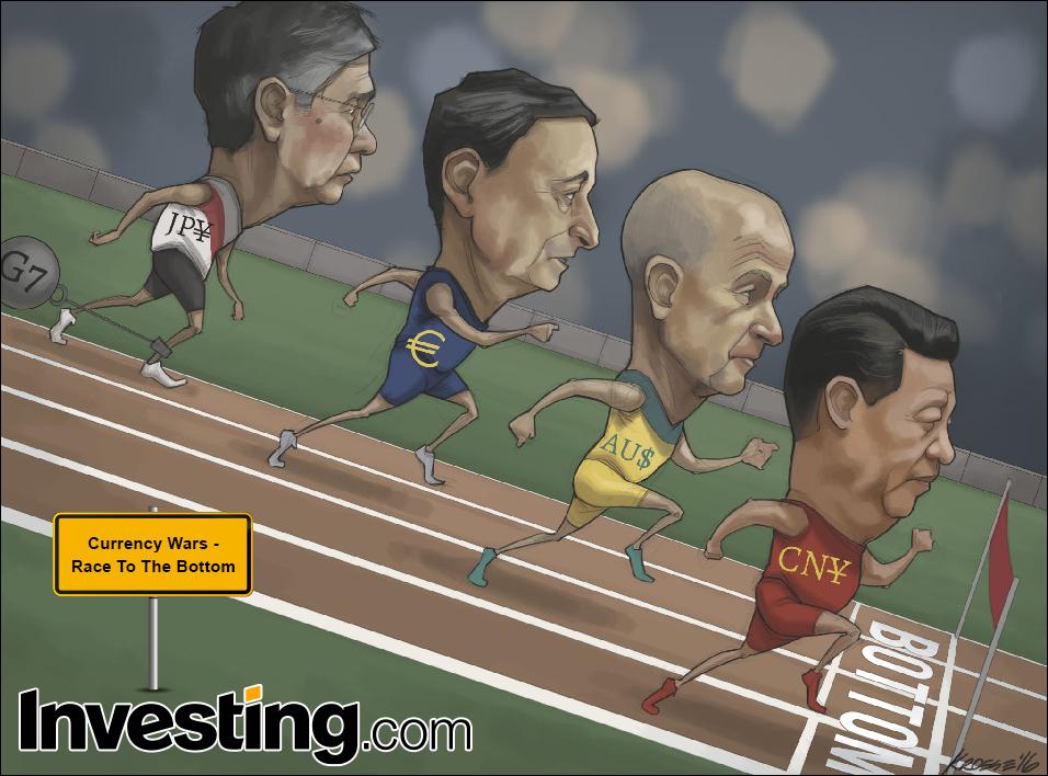 G7各国による通貨切り下げ競争で通貨戦争勃発