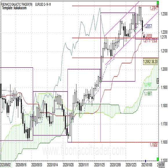 ユーロドル ユーロは売り圧力が強まりやすい(週報1月第2週)